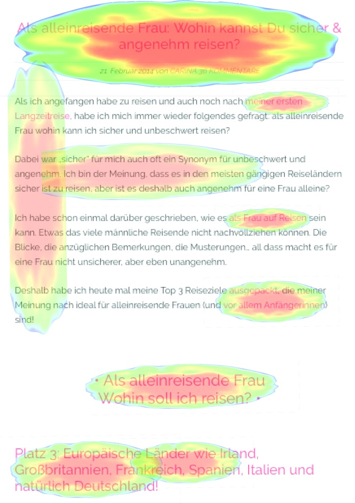 Webtexte analysieren_Heatmap in F-Form Pink Compass