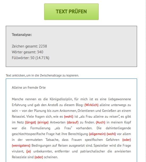 Webtexte analysieren_Schreiblabor_Füllwörtertest