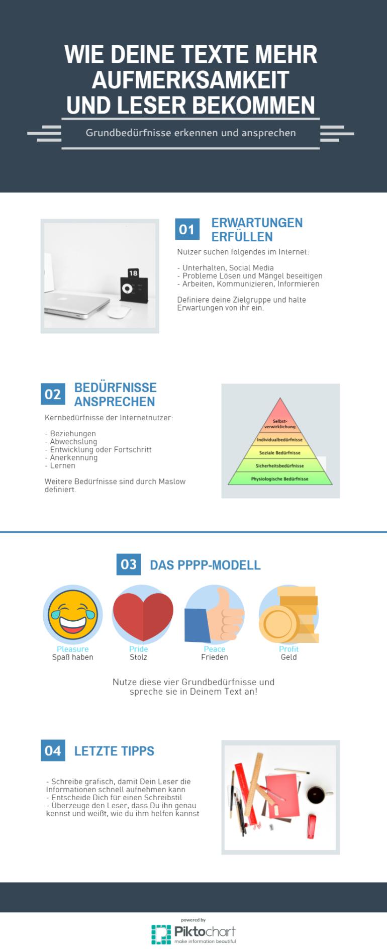 Infografik mehr Aufmerksamkeit und Leser